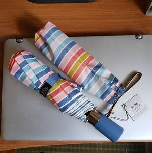 Coach automatic striped umbrella
